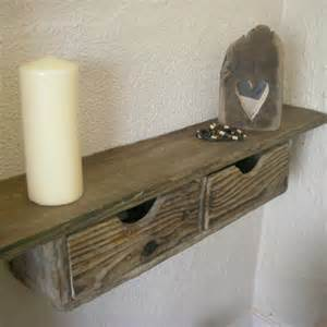 rustic floating drawer shelf from driftwood interiors