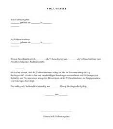 Vollmacht Schreiben Muster Jobcenter Vollmacht Muster Vorlage Word Und Pdf