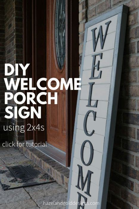 diy wooden  sign   front porch hazel
