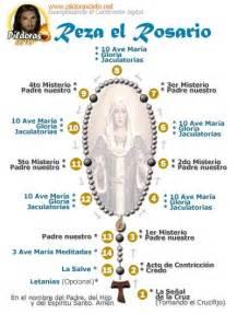 como se reza un rosario para la levantar la cruz misterios santo rosario pinterest