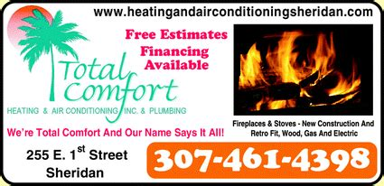 total comfort heating and air conditioning total comfort heating air conditioning inc sheridan wy