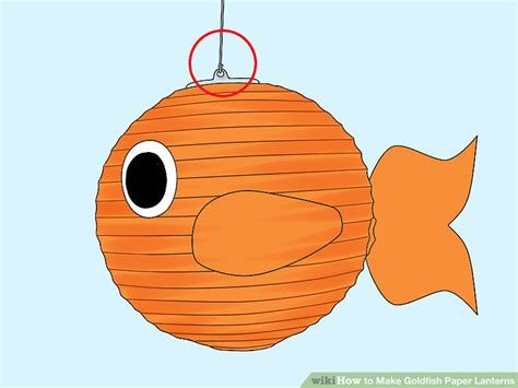 How To Make Paper Lantern Fish - how to make goldfish paper lanterns with pictures wikihow