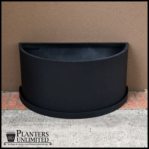 Half Circle Wall Planter by Wall Hook Rectangular Shaped And White Wooden Board