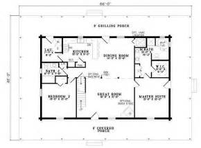 Bath House Floor Plans by Plan 110 00945 4 Bedroom 3 Bath Log Home Plan