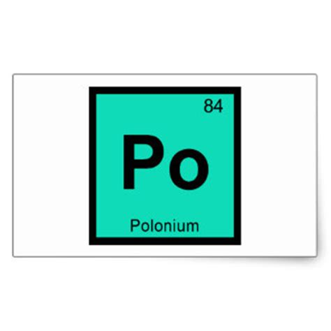Po On Periodic Table polonium stickers zazzle