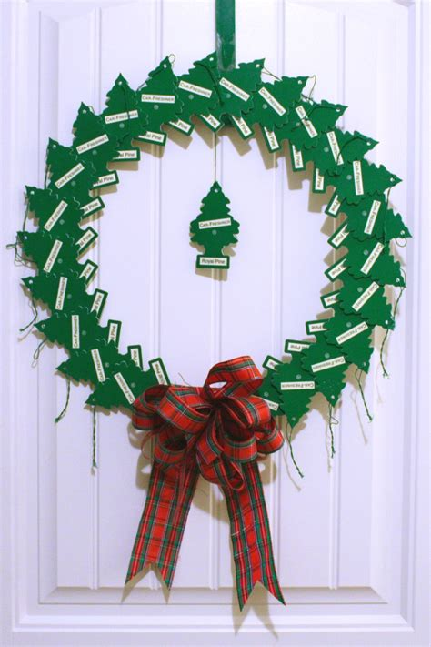 pine tree air freshener wreath chica and jo