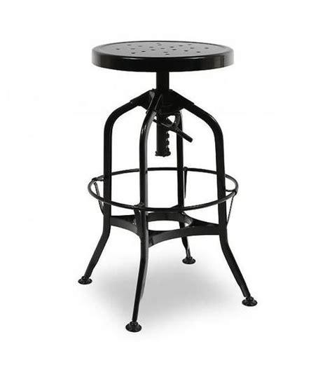Bar Stools Toledo by Toledo Black Adjustable Industrial Bar Stool Zin Home
