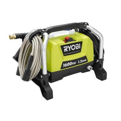 ryobi 1600 psi 1 2 gpm electric pressure washer ry141600