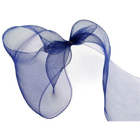 10 quot poly deco mesh navy blue re130219 craftoutlet com