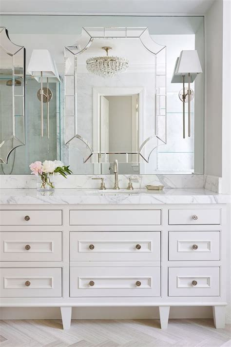 silver bathroom vanity white marble master bathroom sconces mirror and mirror image on pinterest