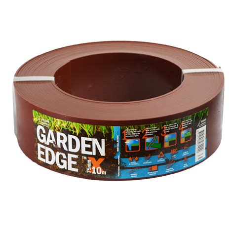 Icon Plastics 75mm x 10m Jarrah Garden Edge   Bunnings Warehouse