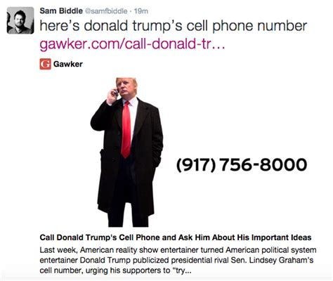 donald trump phone gawker writer releases trump s private cell phone number