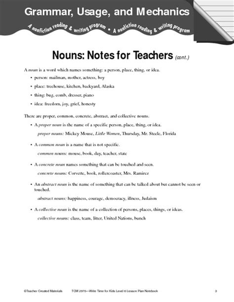 Grammar And Mechanics Worksheets by Language 6th Grade Ela Common Collection Lesson Planet