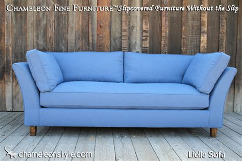 Lielle Sofa Blue Slipcover Chameleon Fine Furniture Blue Slipcover Sofa