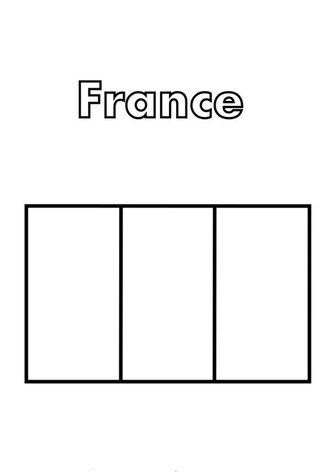france flag coloring