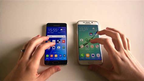 Samsung A8 Vs S7 Edge samsung galaxy a3 2016 vs samsung galaxy s6 edge speed test
