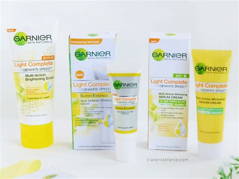 Garnier Serum Lightening 6 hari bersama garnier light complete white speed series
