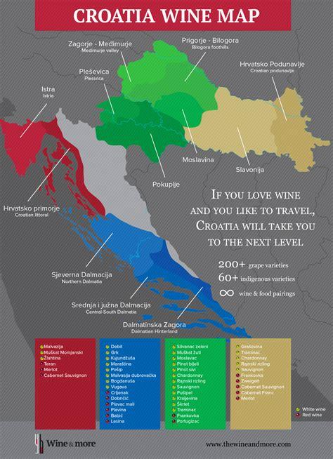 best wine regions croatian wine map wine regions of croatia the wine more
