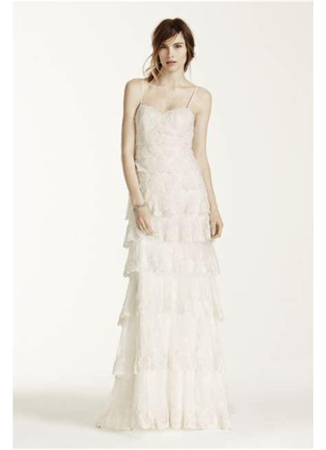 Melissa Sweet Beaded Tiered Lace Wedding Dress   David's