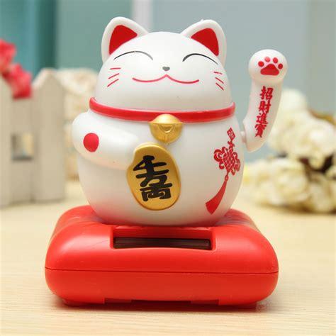 Maneki Neko Fortune Cat Solar Powered Maneki Neko Welcoming Lucky Beckoning Fortune Cat Home Decor Furnishings Alex Nld