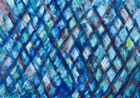 abstract expressionism pattern quot the blue pyramid illusion quot geometric expressionism