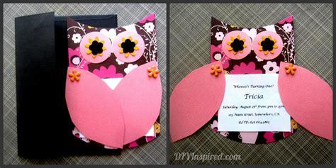 diy 1st birthday invitation ideas owl themed invitations diy inspired