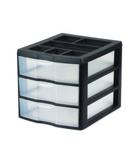 sterilite plastic drawers black sterilite 3 drawer medium desktop unit pack of 2 buy