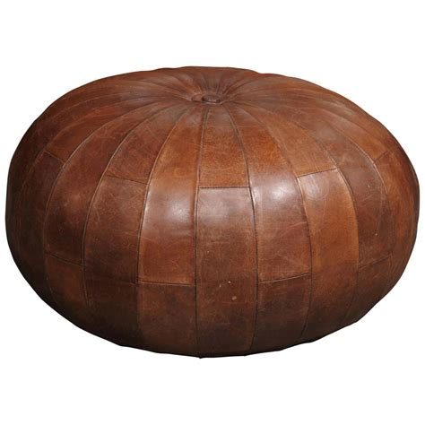 poufs and ottomans leather pouf or ottoman at 1stdibs