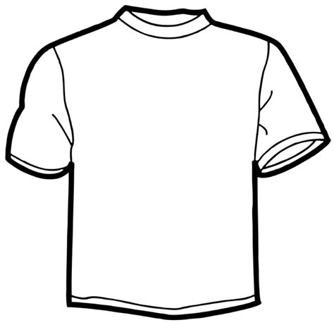 Drawing T Shirt Outline by Shirt Outline Cliparts Co