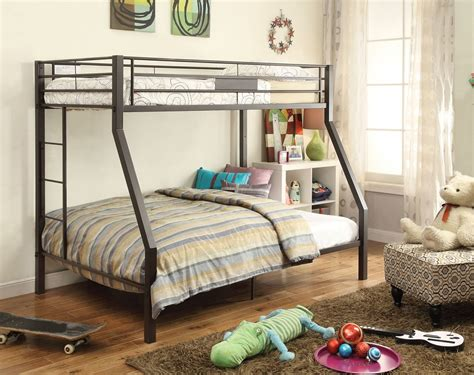metal bunk beds twin over full twin over full metal tube brown finish bunk bed