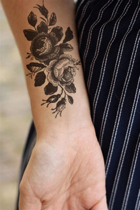 temporary tattoos rose the gallery for gt vintage design