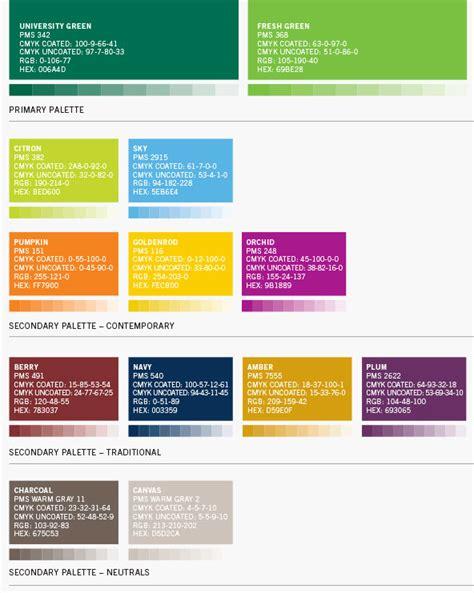 Pantone Color Palettes color palette cleveland state university