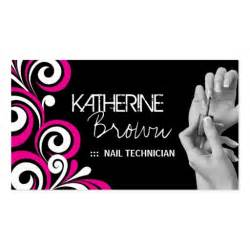 nail business cards templates stylish nail salon business card template zazzle