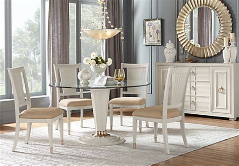 dining room furniture michigan michigan avenue cream 5 pc round dining room contemporary