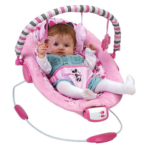 newborn baby bouncer chair disney minnie mouse pink baby newborn vibrating