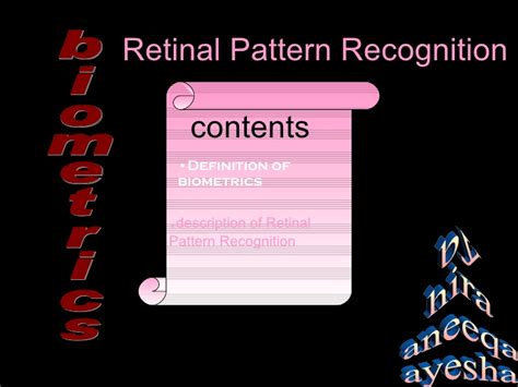 definition of pattern recognition system retinal pattern recognition