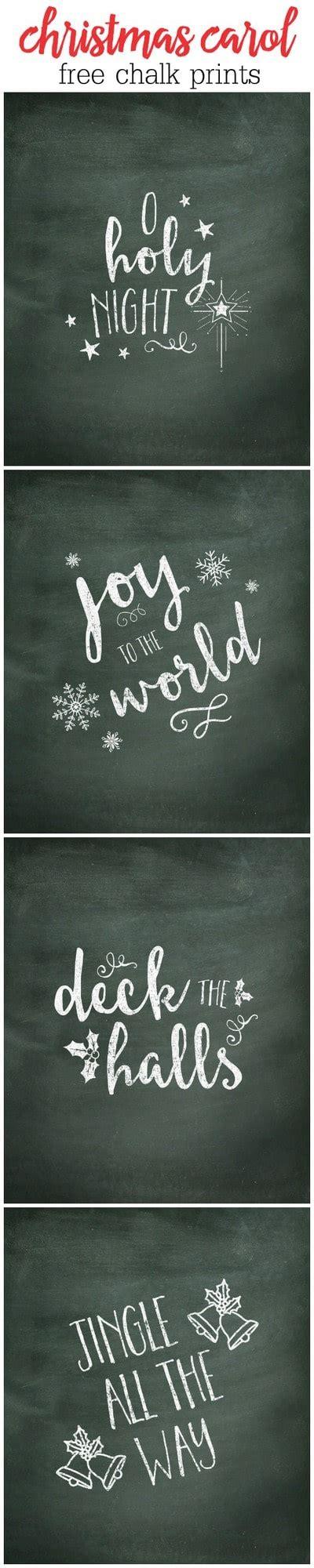 christmas carol chalk prints