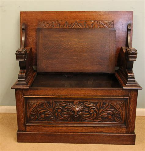 monks bench with storage antique victorian georgian edwardian furniture the
