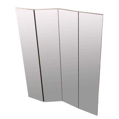 mirror room divider four panel mirrored room divider for sale at 1stdibs