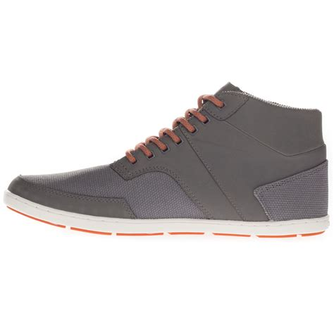 boxfresh s shepperton leather waxed canvas mid top