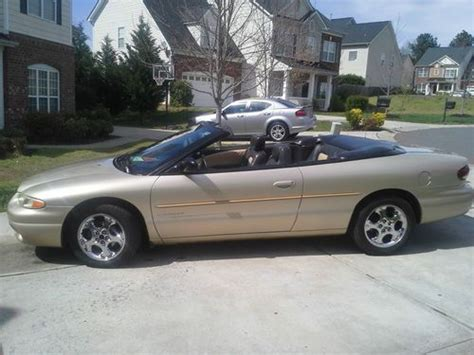 1998 chrysler sebring jxi convertible purchase used 1998 chrysler sebring jxi convertible 2 door