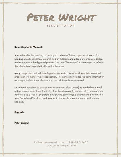 personal letterhead templates customize 165 personal letterhead templates online canva
