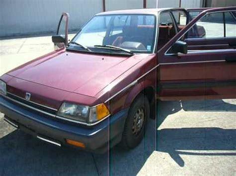 car engine repair manual 1985 honda civic seat position control 1985 honda civic gl carb auto youtube