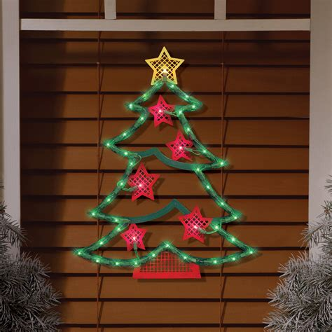 light up christmas tree window decoration