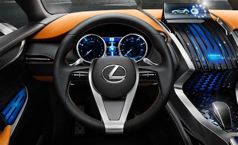 lexus crossover inside car and driver