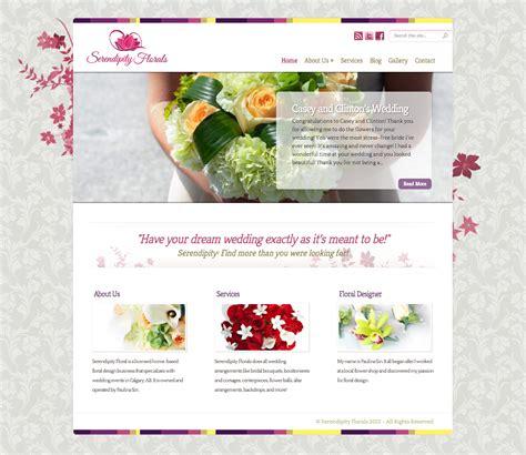 home based floral design business serendipity florals website reszmedia design
