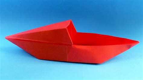 Origami Boat Canoe - how to make a paper boat origami boat