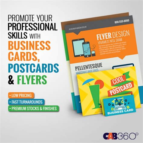 Business Cards And Flyers business cards postcards flyers cab360 miami fort