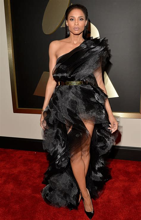 Polls Beyonces Grammy Look by Ciara S Dress At The Grammy Awards 2015 Popsugar Fashion