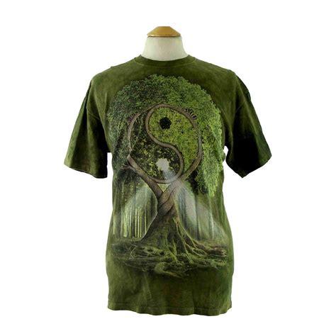 Tree Print Shirt tree print tie dye t shirt blue 17 vintage fashion